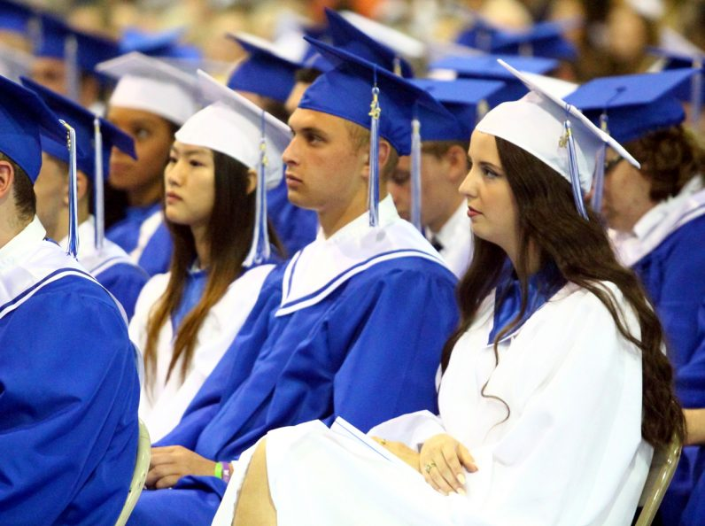 Students from Conwell-Egan Catholic High School graduated at Holy Family College on Tuesday, June 7. (Sarah Webb)