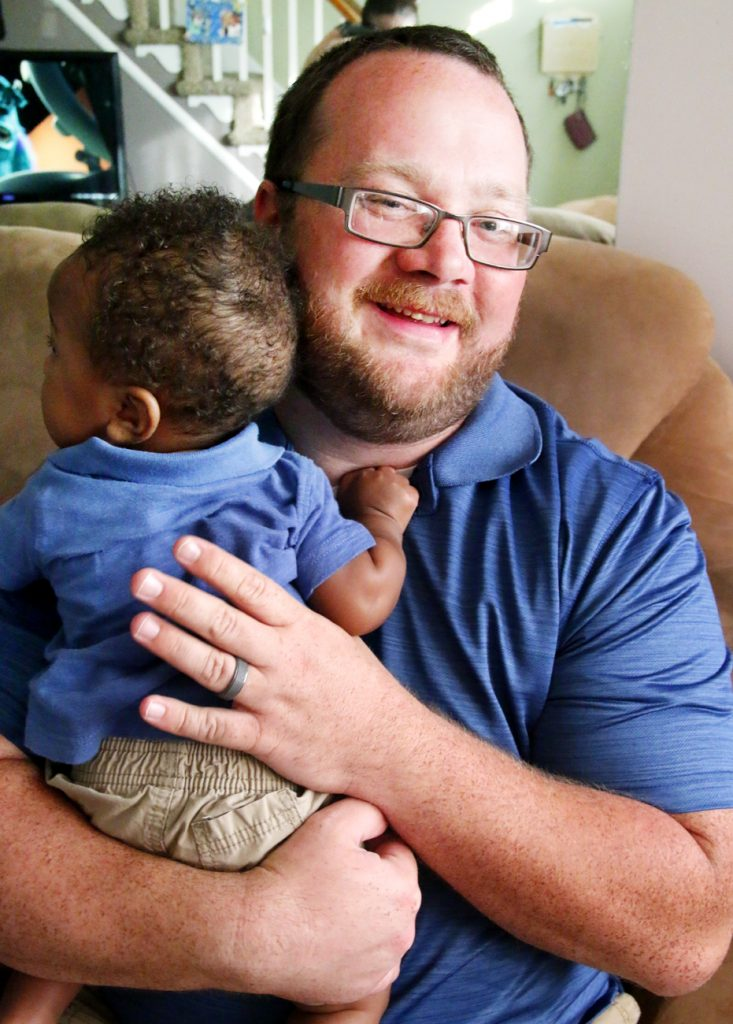 "Michael Darrah adores his foster son ""Jay."""