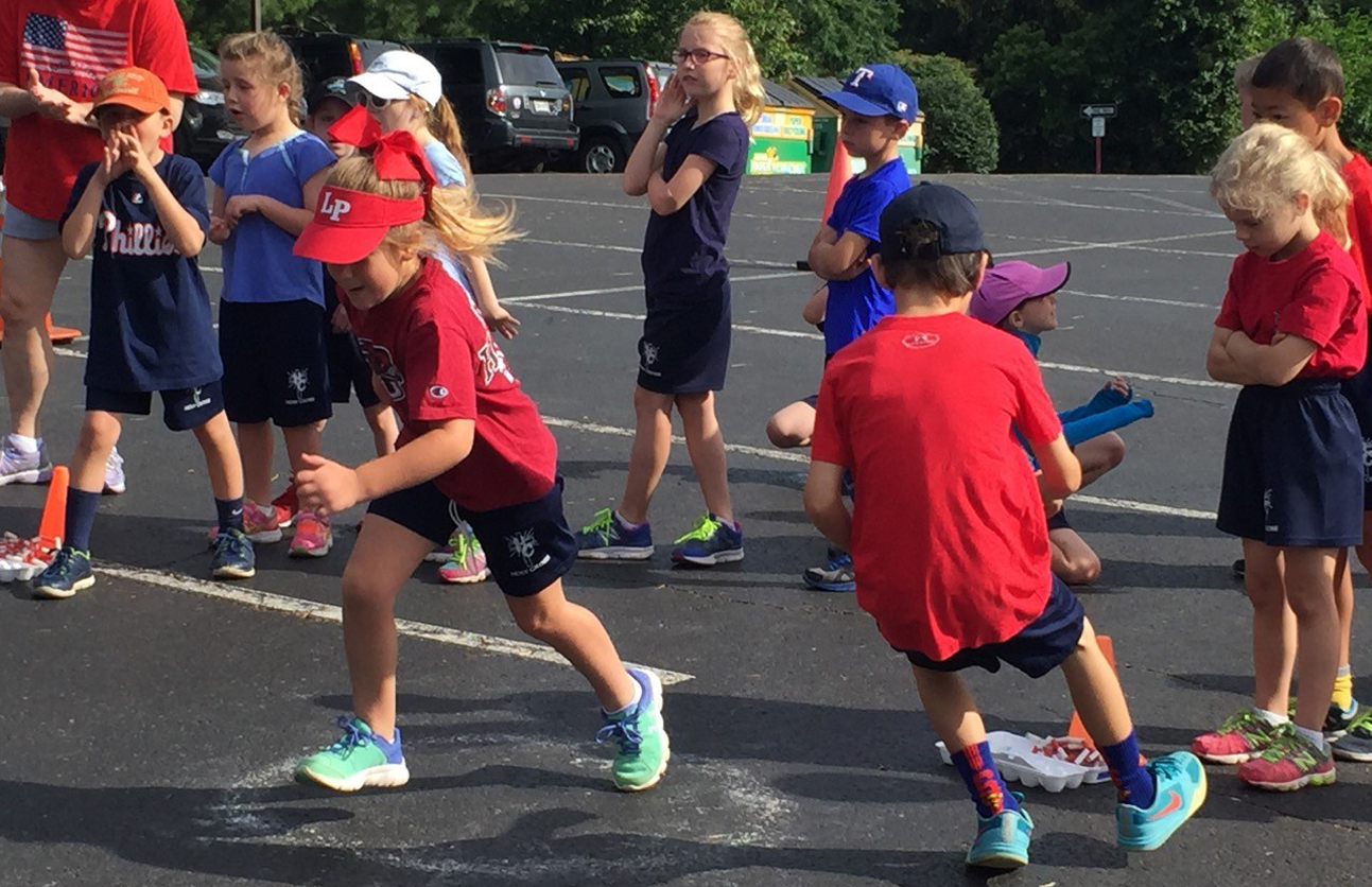 Students of Holy Cross Regional Catholic School in Collegeville compete in a race during Field Day June 17.