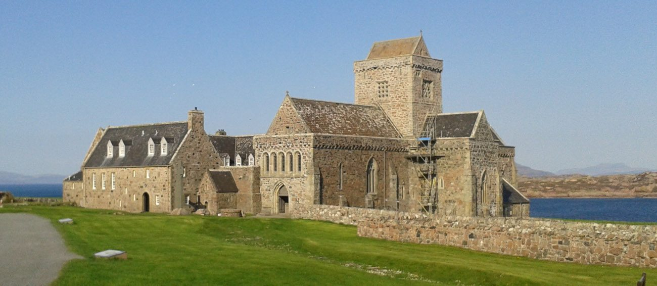 The Iona Abbey is pictured May 9 in Scotland. (CNS/Jonathan Luxmoore)
