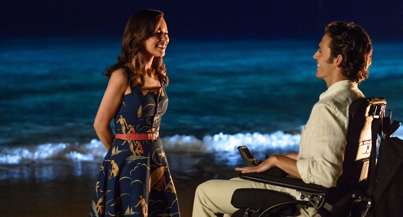 "Emilia Clarke and Sam Claflin star in a scene from the movie ""Me Before You."" (CNS photo/Warner Bros.)"