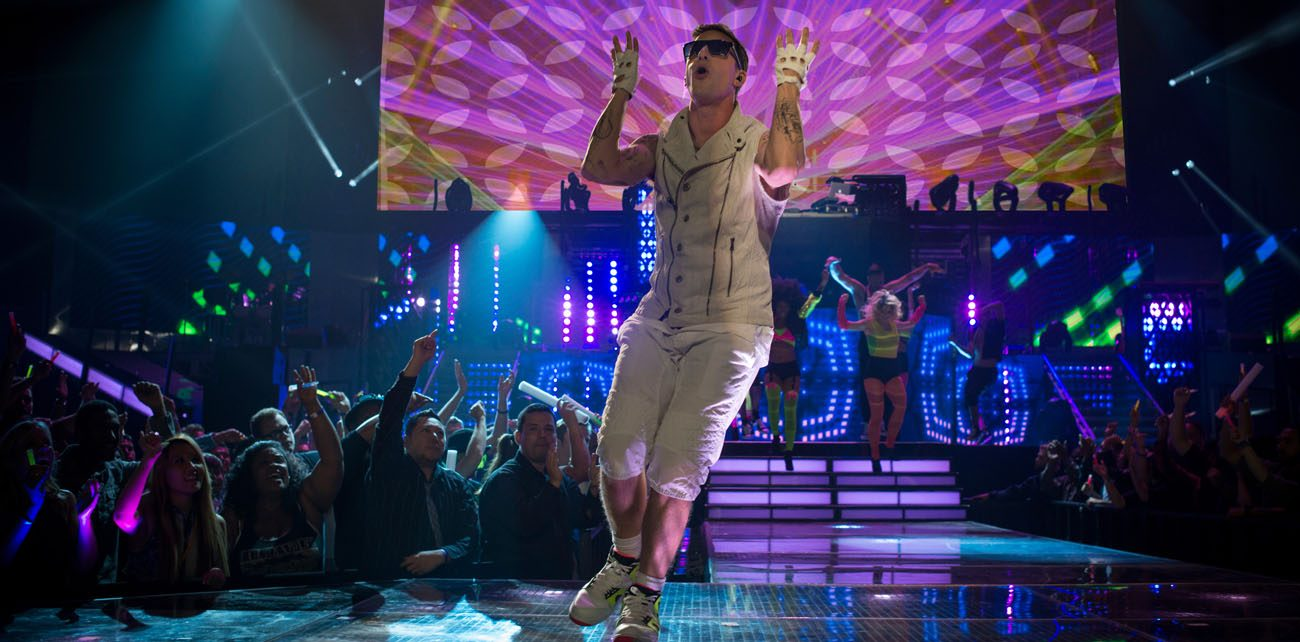 """Andy Samberg stars in a scene from the movie """"Popstar: Never Stop Never Stopping."""" (CNS photo/Universal Pictures)"""