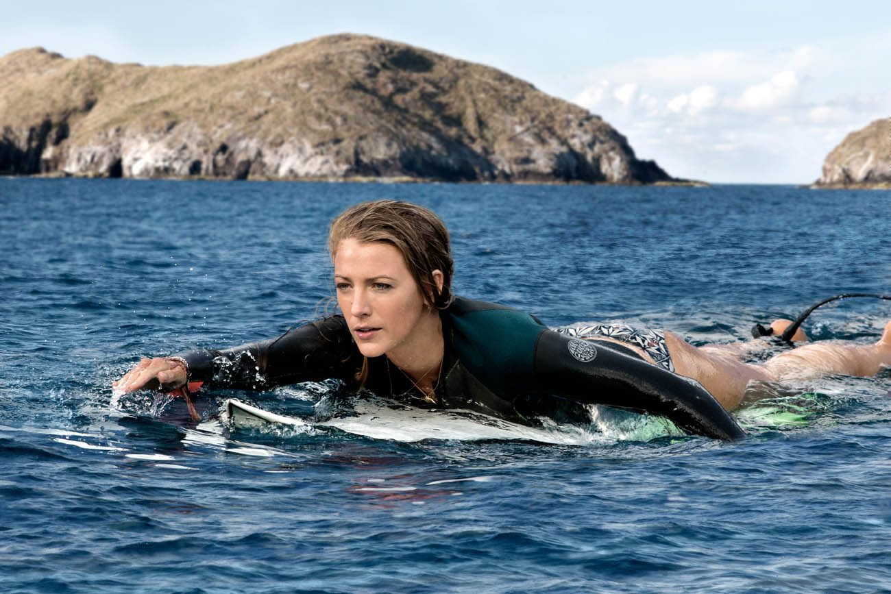 "Blake Lively stars in a scene from the movie ""The Shallows."" (CNS photo/Sony)"