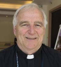 Oblate Father Seamus Finn, chair of the Interfaith Center on Corporate Responsibility. (CNS photo/Carol Glatz)