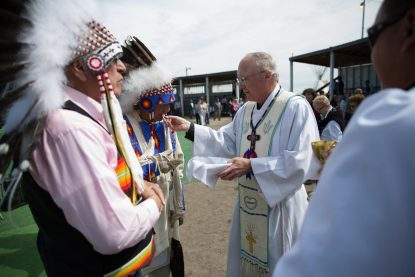 Mercy 'sets our hearts free,' bishop says at Mass for Native