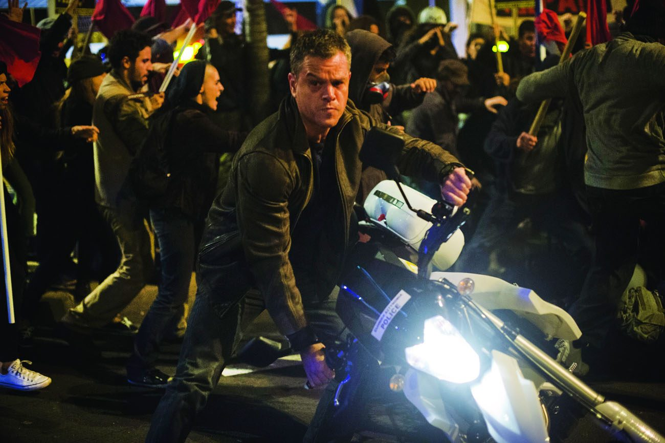 "Matt Damon stars in a scene from the movie ""Jason Bourne."" (CNS photo/Universal Pictures)"