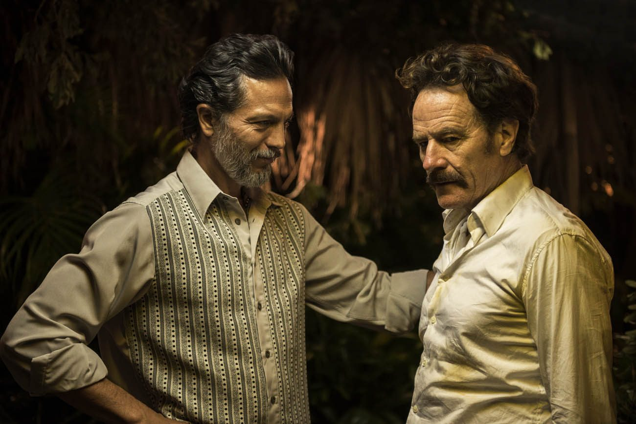 "Benjamin Bratt and Bryan Cranston star in a scene from the movie ""The Infiltrator."" (CNS photo/Broad Green Pictures)"