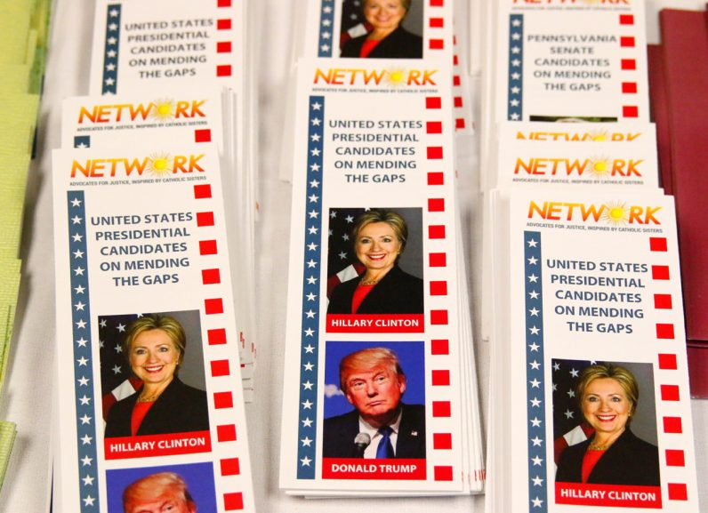 Network, the organization that sponsored the sisters' national bus tour, printed and distributed pamphlets comparing the two presidential candidates.