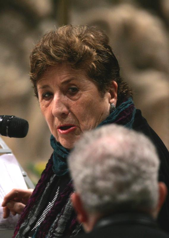 Carmen Hernandez, co-founder of the Neocatechumenal Way, died in Madrid July 19 at the age of 85. She is pictured in a 2009 photo. (CNS photo/Emanuela De Meo, Catholic Press Photo)