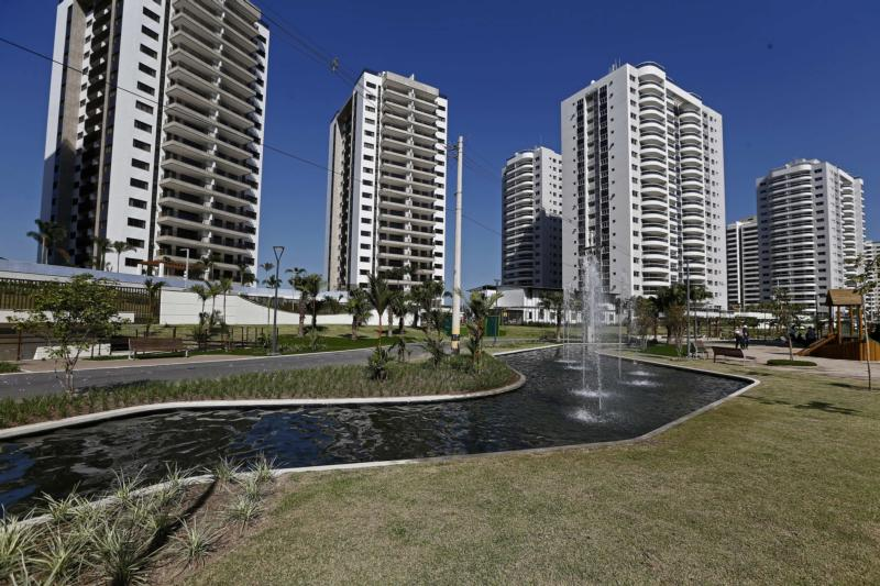 A view of the Olympic Village in Rio de Janeiro June 15.  (CNS photo/ Marcelo Sayao, EPA)