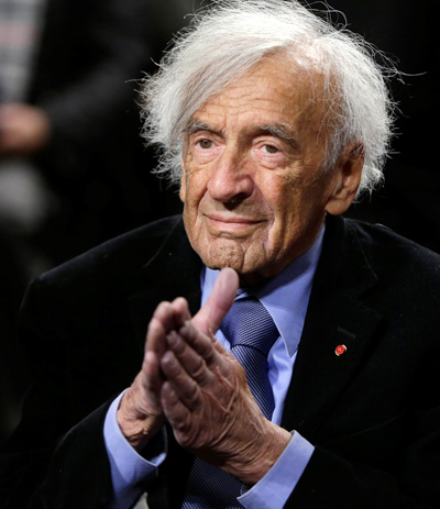 Nobel Laureate Elie Wiesel, a Holocaust survivor and author who fought for peace, human rights and simple human decency, died July 2 at his New York home at age 87. He is pictured in a 2015 photo. (CNS photo/Gary Cameron, Reuters)