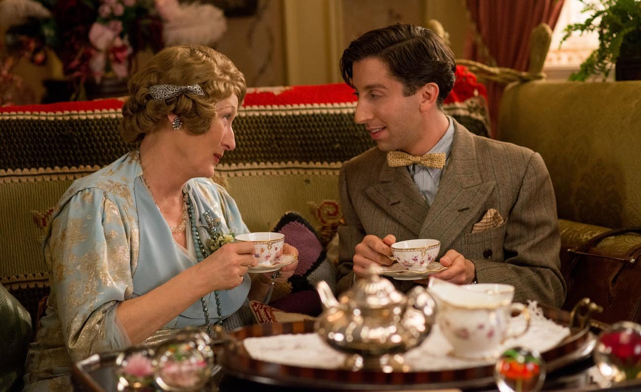 "Meryl Streep and Simon Helberg star in a scene from the movie ""Florence Foster Jenkins."" (CNS photo/Paramount)"