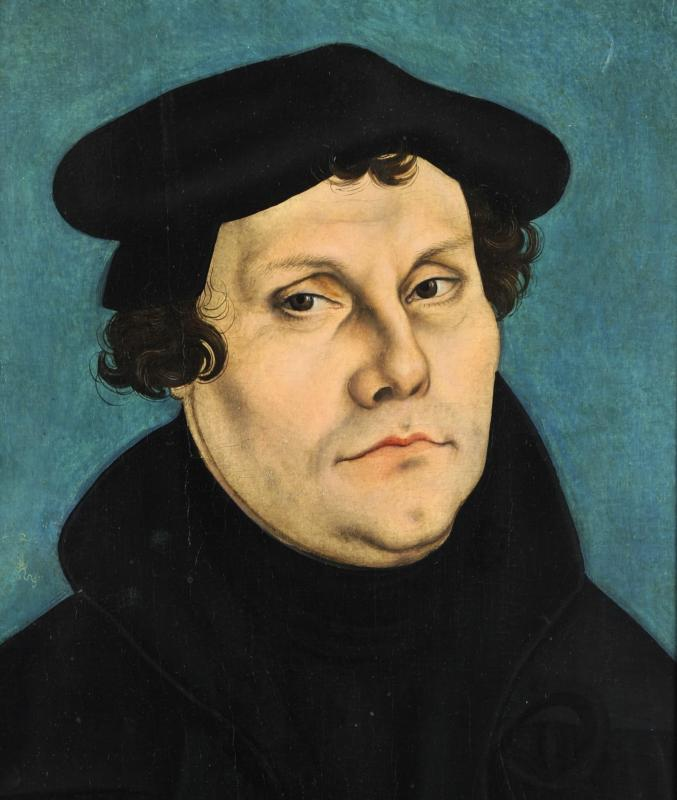 Portrait of Martin Luther by 16th-century German Renaissance painter Lucas Cranach the Elder.  (CNS photo/Public domain)