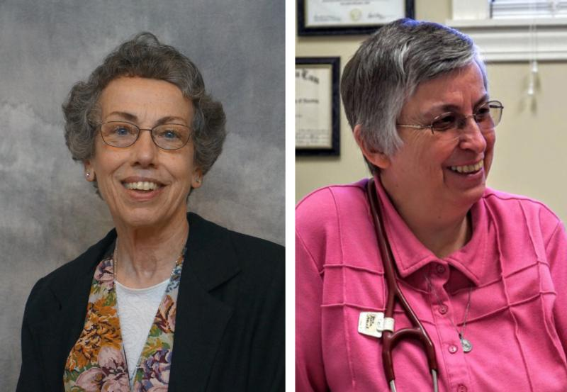 Sister Margaret Held, 68, a member of the School Sisters of St. Francis in Milwaukee, and Sister Paula Merrill, 68, a member of the Sisters of Charity of Nazareth in Kentucky, are pictured in undated photos. (CNS photo/School Sisters of St. Francis and Sisters of Charity of Nazareth)