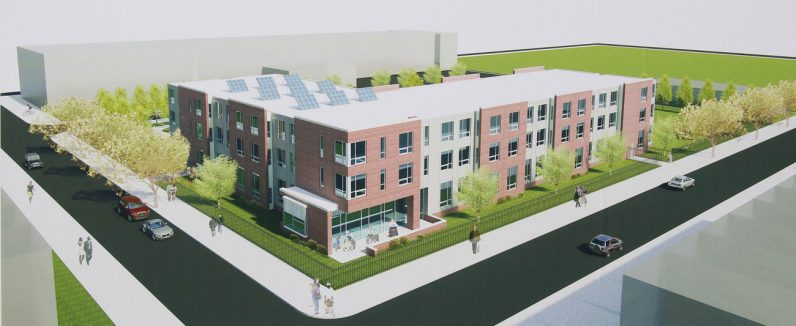 An artist's rendering shows what the new senior housing facility will look like when completed in fall of 2017.