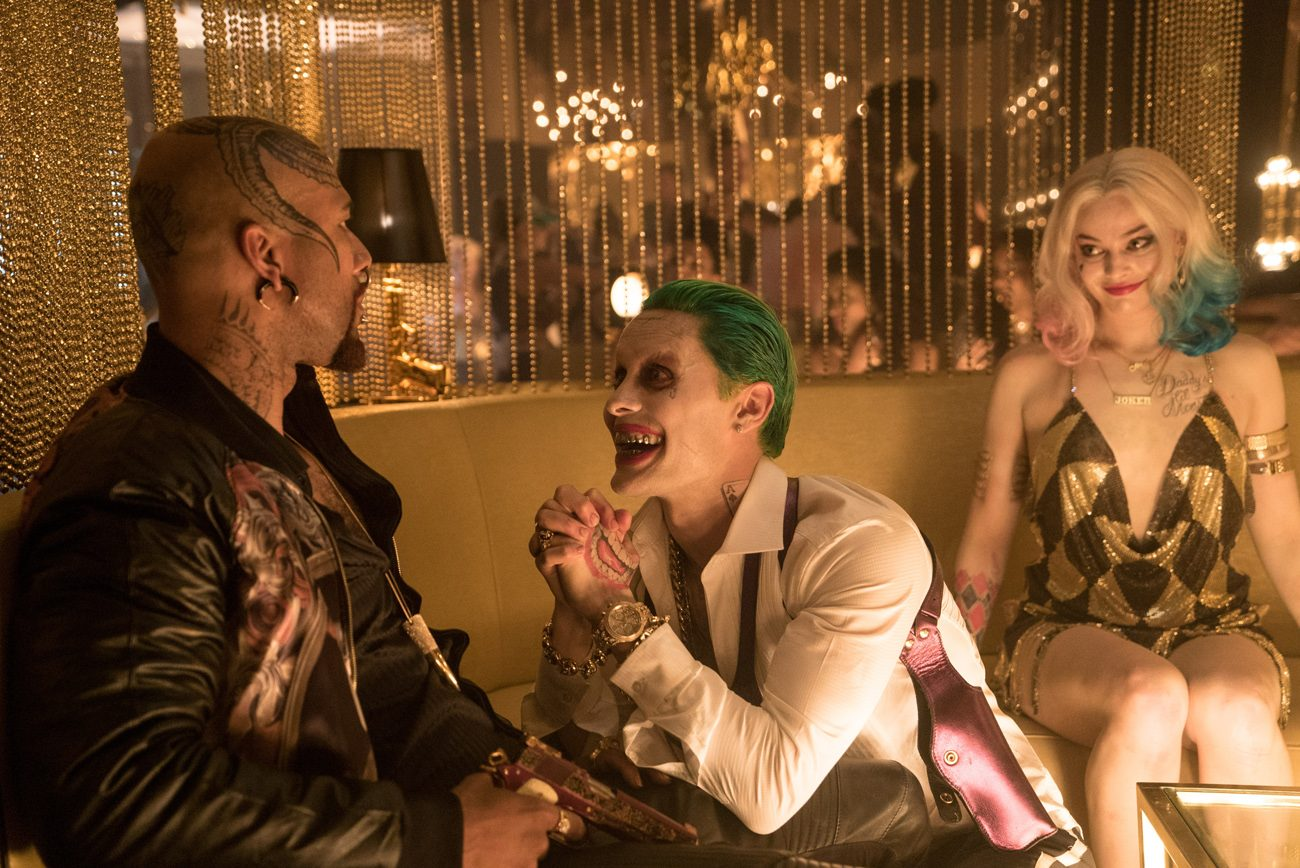 "Jared Leo and Margot Robbie star in a scene from the movie ""Suicide Squad."" (CNS photo/Clay Enos, Warner Bros. Entertainment)"