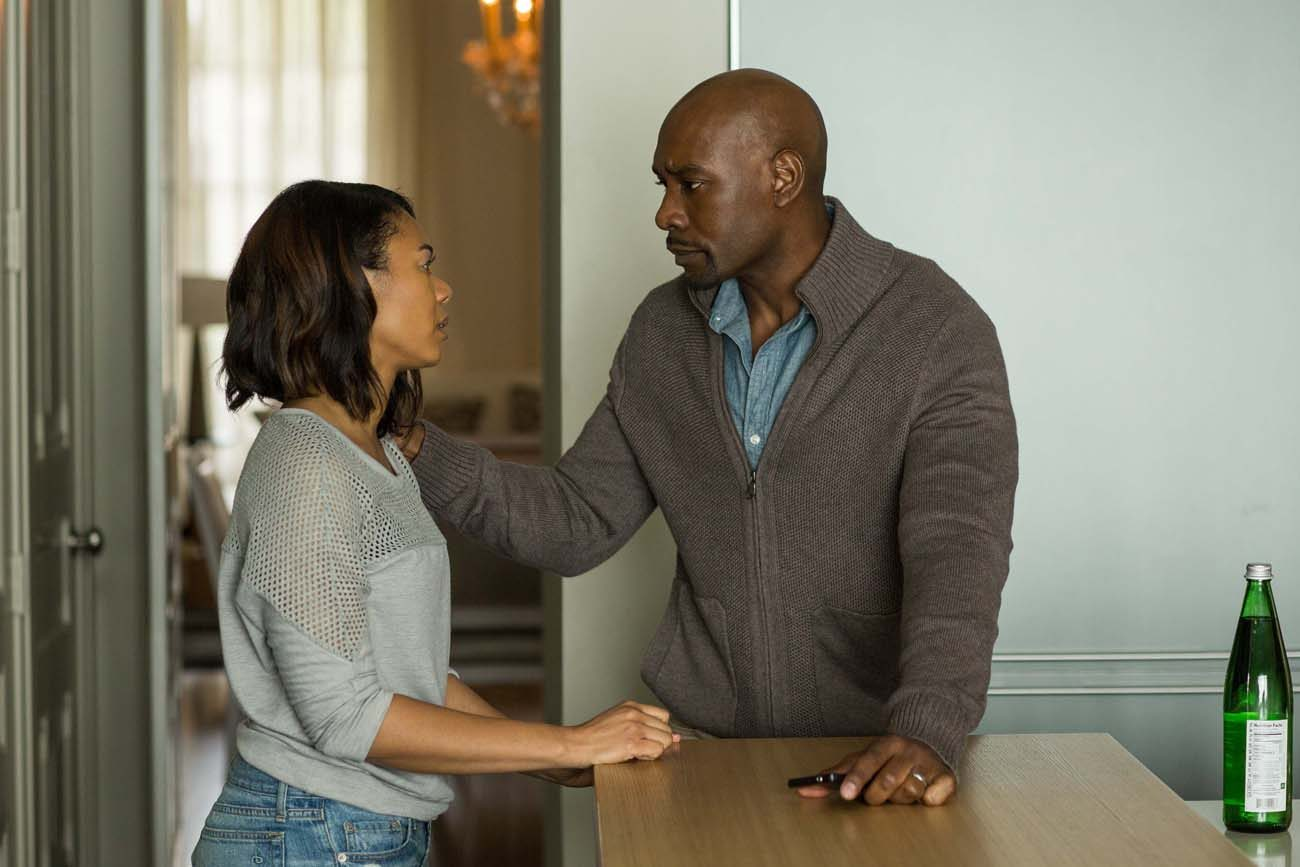"Morris Chesnut and Regina Hall star in a scene from the movie ""When the Bough Breaks.""  (CNS photo/Sony)"