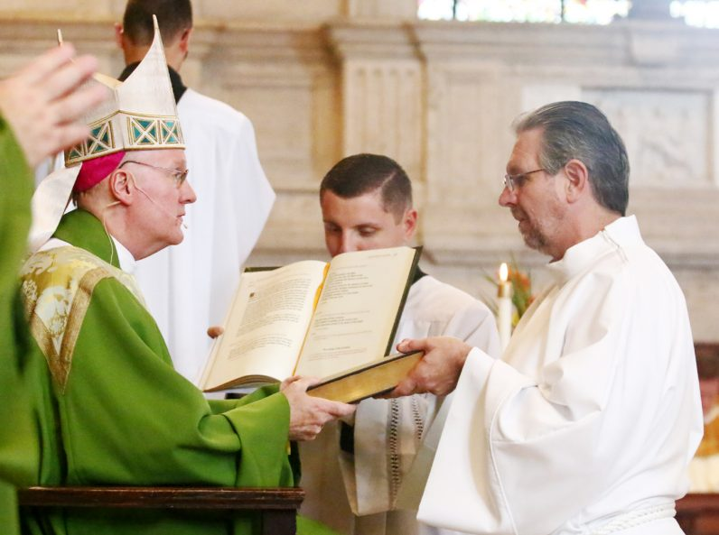 Diaconate candidate Franz Fruehwald receives the ministry of lector.