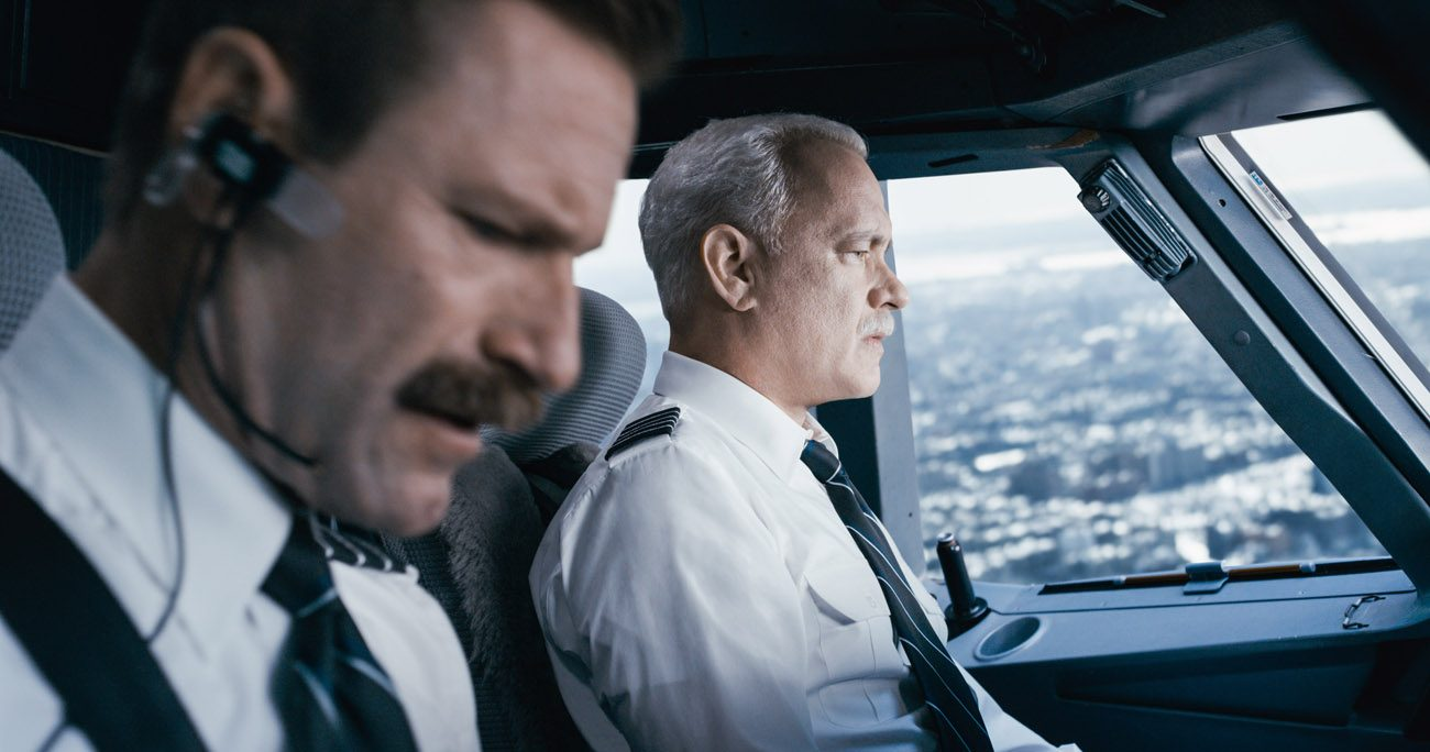 "Arron Eckhart and Tom Hanks star in a scene from the movie ""Sully.""(CNS photo/Warner Bros.)"