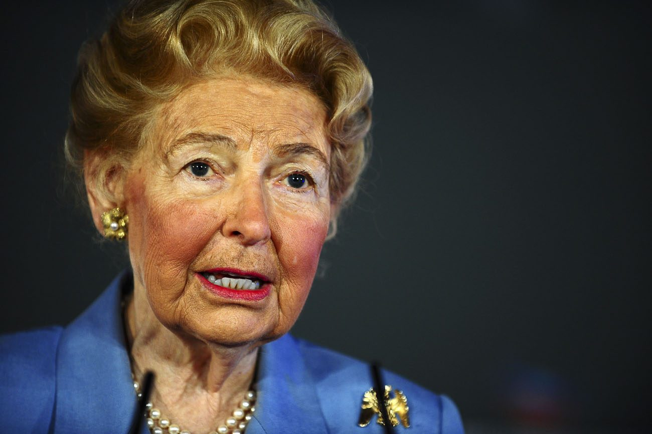 Phyllis Schlafly, 92, died Sept. 5 at her home in Ladue, Missouri, outside St. Louis, according the Eagle Forum, an organization she founded in 1975. She is pictured in a 2013 photo. (CNS photo/Mary F. Calvert, Reuters)