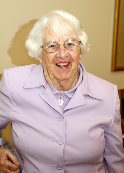 Holy Child Sister Eleanor Carbin, 96, celebrates 78 years in religious life this year. (Sarah Webb)