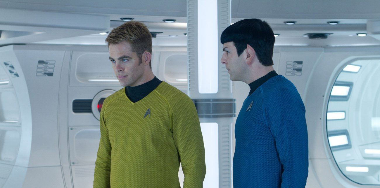 "Chris Pine and Zachary Quinto star in a scene from the movie ""Star Trek Into Darkness."" Honoring Star Trek's 50th anniversary, the Vatican newspaper said the popular series gave the world a model of peace, tolerance and cooperation at a time of global tensions. (CNS photo/Paramount)"