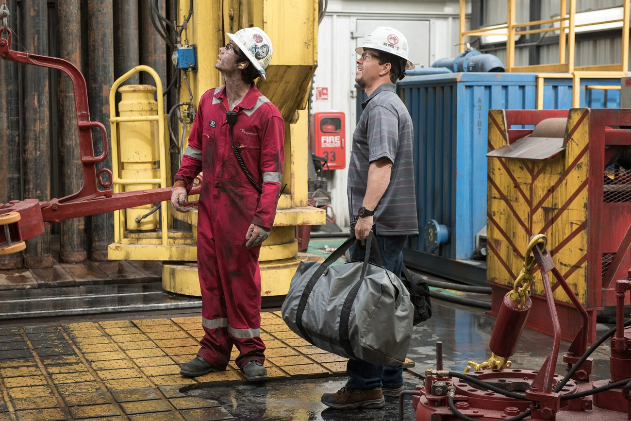 "Dylan O'Brien and Mark Wahlberg star in a scene from the movie ""Deepwater Horizon."" The Catholic News Service classification is A-III -- adults. The Motion Picture Association of America rating is PG-13 -- parents strongly cautioned. Some material may be inappropriate for children under 13. (CNS photo/Lionsgate)"