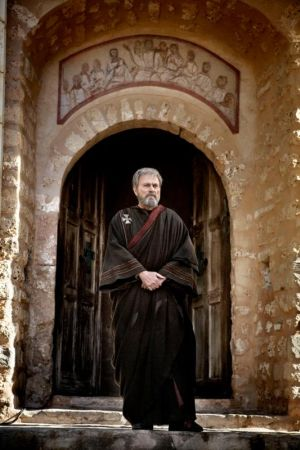 "Franco Nero portrays St. Augustine as an old man in a scene from the movie ""Restless Heart."" Sts. Ambrose and Augustine both are remembered today as invaluable Fathers of the Church. (CNS photo/Maximus Group)"