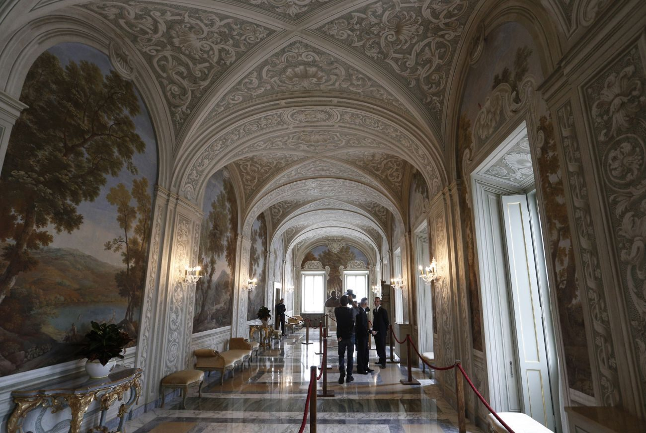 A hallway is seen in the papal villa at Castel Gandolfo, Italy, Oct. 21. Private areas of the papal villa are now open to the public. Although many popes over the centuries have spent their summers at Castel Gandolfo, Pope Francis has chosen to remain in Rome. (CNS photo/Paul Haring)