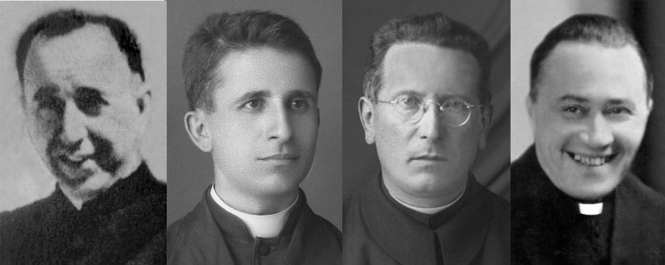 From left to right: Father Shtjefen Kurti, Father Anton Zogaj, Father Giovanni Fausti and Father Lazer Shantoja.
