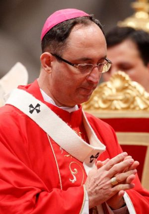 Brazilian Cardinal-designate Sergio da Rocha of Brasilia is among 17 new cardinals to be created by Pope Francis Nov. 19. Archbishop da Rocha is pictured during a Mass in St. Peter's Basilica at the Vatican in this June 29, 2011, file photo. (CNS photo/Paul Haring)