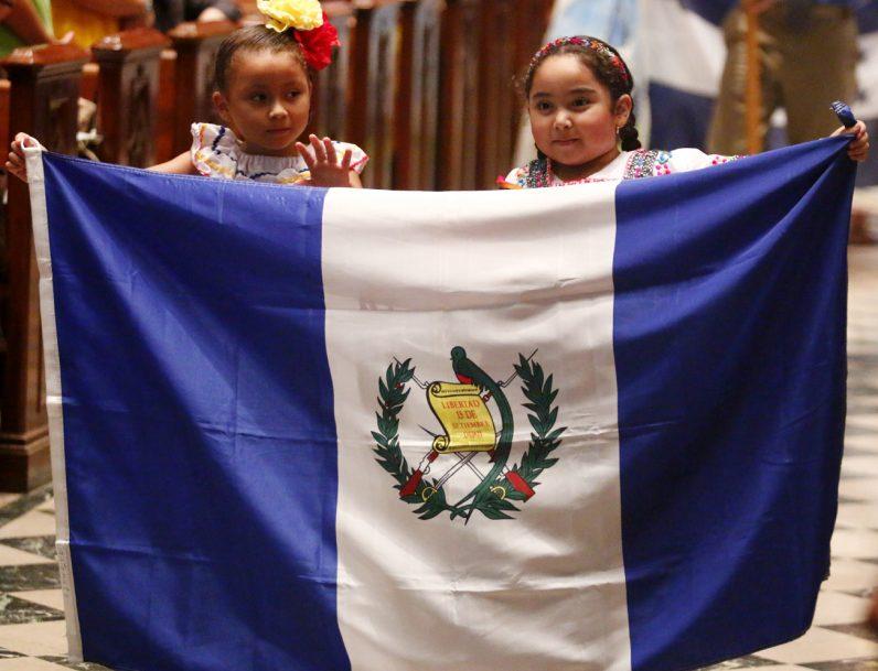 Sophia Nomescaho and Kalin Reese Salazar proudly represent Guatemala.