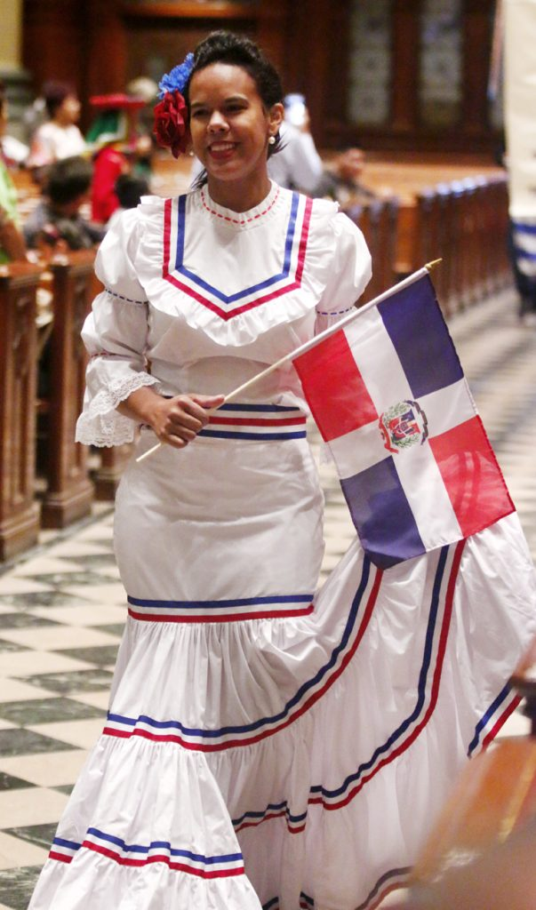 Marilyn Martinez, from St. William Parish in Philadelphia, beautifully represents the Dominican Republic.