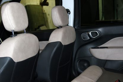 An interior view of the car used by Pope Francis in Philadelphia.