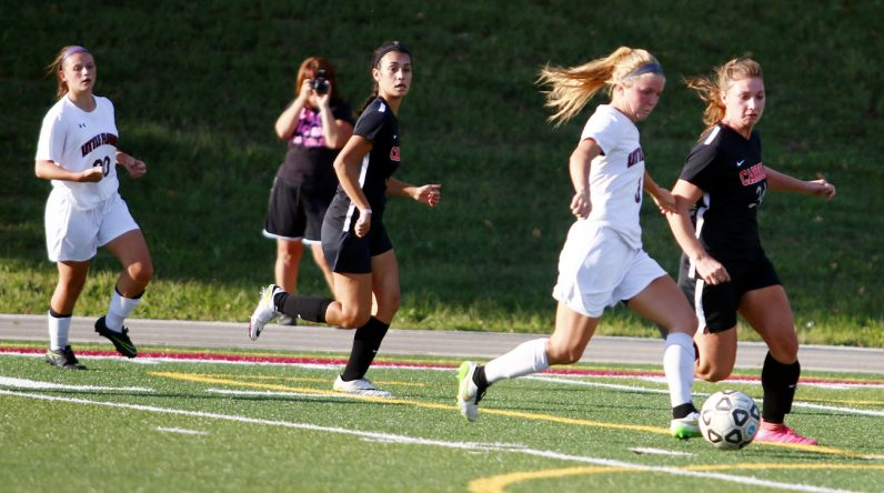Little Flower senior Cailey Plath helped lead her team to vicotory against Archbishop Carroll scoring three of the four goals leading to a shut out.