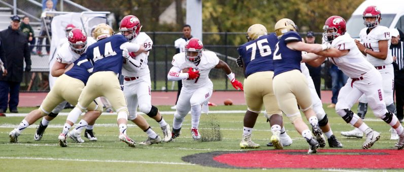The Prep's D'Andre Swift dominated the game against La Salle Oct. 22 on the strength of big holes opened by the offensive line. (Photo by Sarah Webb)