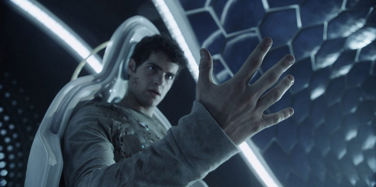 "Ben Winchell stars in a scene from the movie ""Max Steel.""  (CNS photo/Open Road Films)"