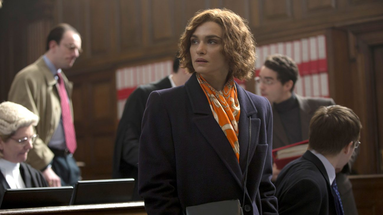 "Rachel Weisz stars in a scene from the movie ""Denial.""  (CNS photo/Bleecker Street)"