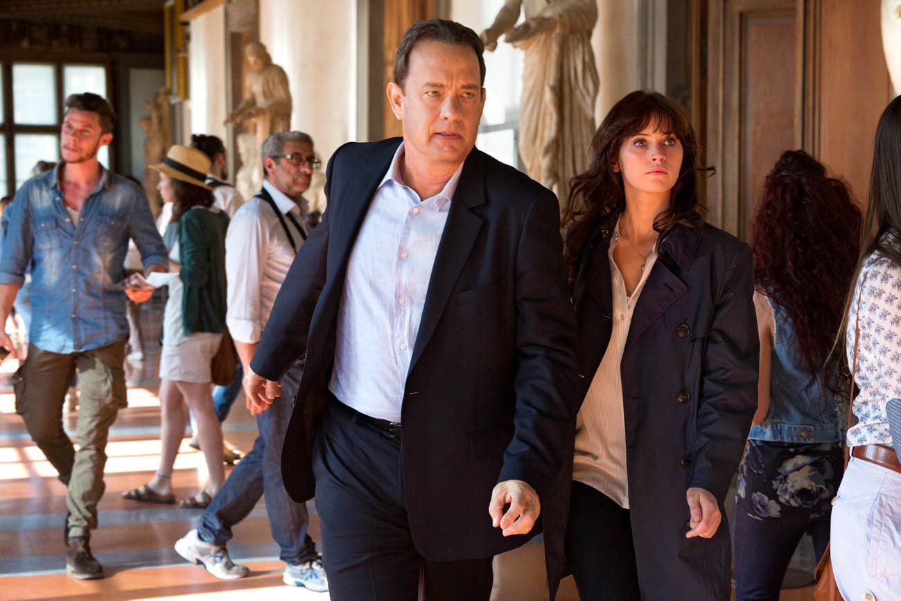 "Tom Hanks and Felicity Jones star in a scene from the movie ""Inferno.""  (CNS photo/Sony)"