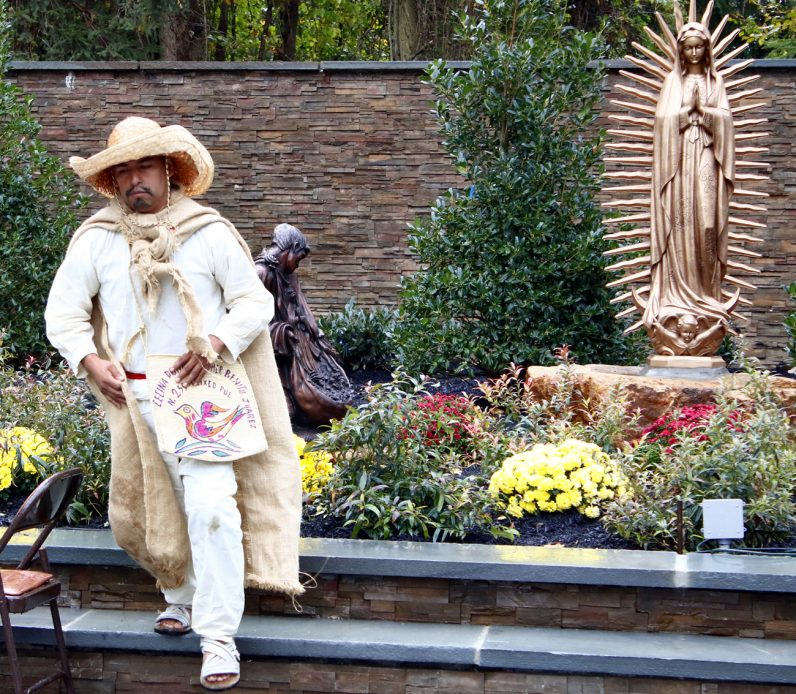 Members of Groupo Guadalupano from St. Mark Parish in Sea Grit, N.J., perform the story of Our Lady of Guadalupe's visitation to St. Juan Diego.