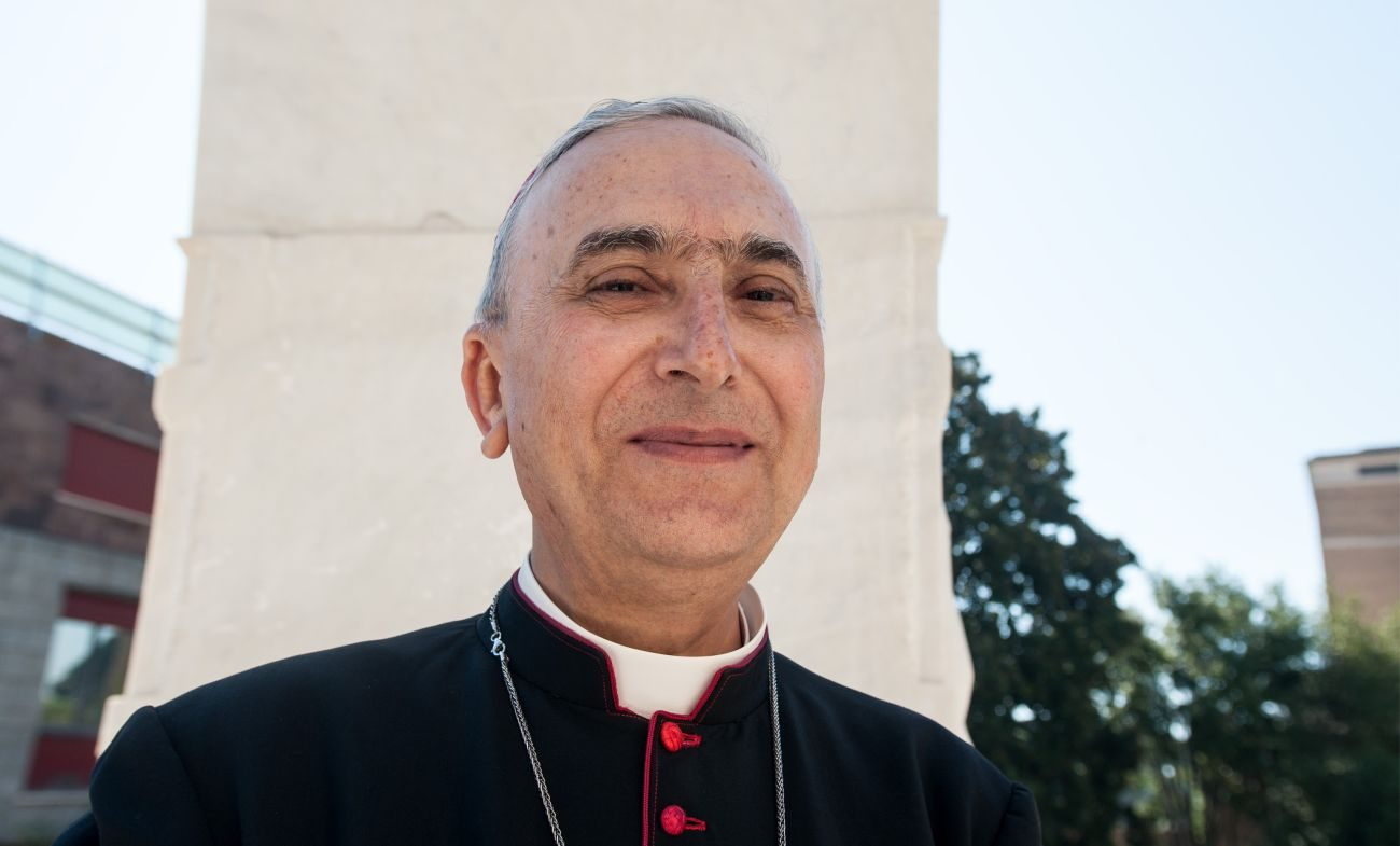 Italian Cardinal-designate Mario Zenari is pictured in a Sept. 29 photo. Cardinal-designate Zenari, who has been nuncio to Syria since 2008, will be one of 17 new cardinals consecrated by Pope Francis at a Vatican consistory Nov. 19. (CNS photo/Massimiliano Migliorato, Catholic Press Photo)