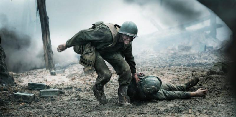 "Andrew Garfield stars in a scene from the movie ""Hacksaw Ridge."" (CNS photo/Cross Creek Pictures)"