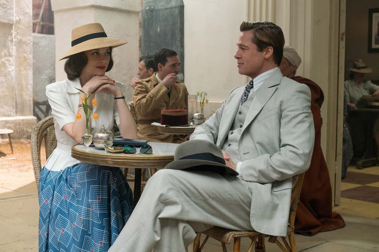 "Brad Pitt and Marion Cotillard star in a scene from the movie ""Allied."" (CNS photo/Daniel Smith, Paramount)"