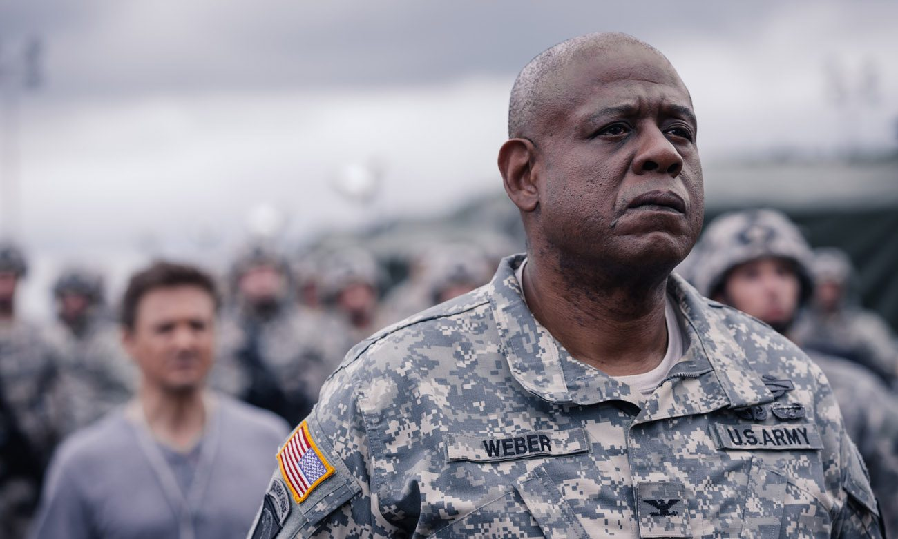 "Forest Whitaker stars in a scene from the movie ""Arrival."" (CNS photo/Paramount Pictures)"