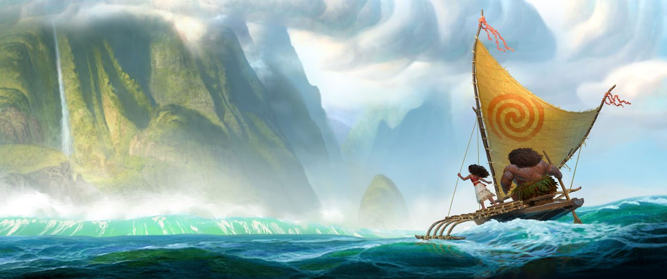 "Characters are shown in a scene from the animated movie ""Moana."" (CNS photo/Disney)"