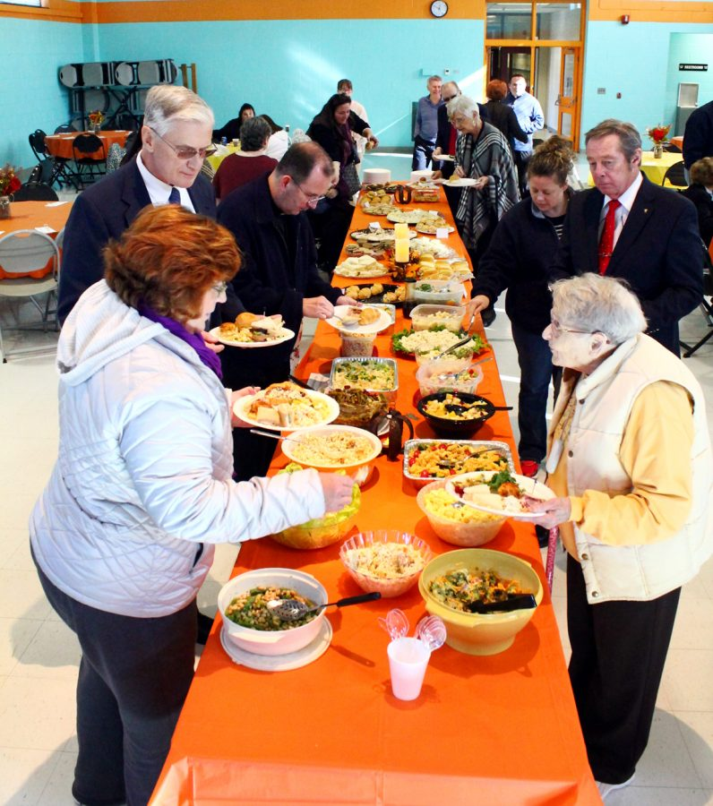 After Mass the hospitality committee of St. Joseph Parish offers lunch for those who attended the healing Mass.