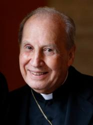 Bishop Javier Echevarria, head of Opus Dei for more than 20 years, died Dec. 12 in Rome. He was 84. Bishop Echevarria is pictured at the Pontifical North American College in Rome in this March 21, 2011, file photo. (CNS photo/Paul Haring)