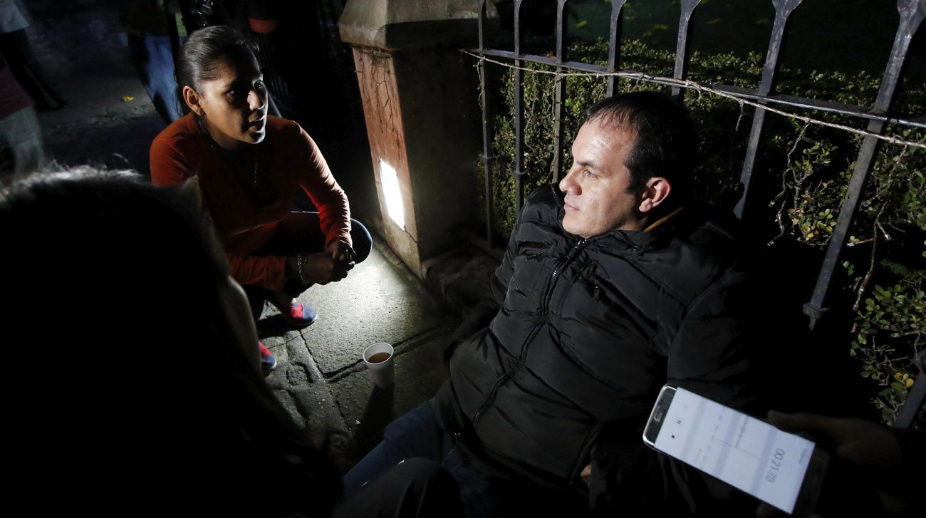 Cuauhtemoc Blanco, a former Mexican soccer star, now mayor of Cuernavaca, begins a hunger strike Dec. 17 to stave off attempts at ousting him from office. A member of Mexico's Supreme Court issued an injunction Dec. 18, prompting Blanco to lift his hunger strike, though not before  winning national and international attention. (CNS photo/Tony Rivera, EPA)