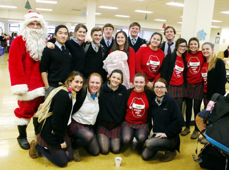 Santa Claus showed up at Cardinal O'Hara High School to thank the students for their good deeds.