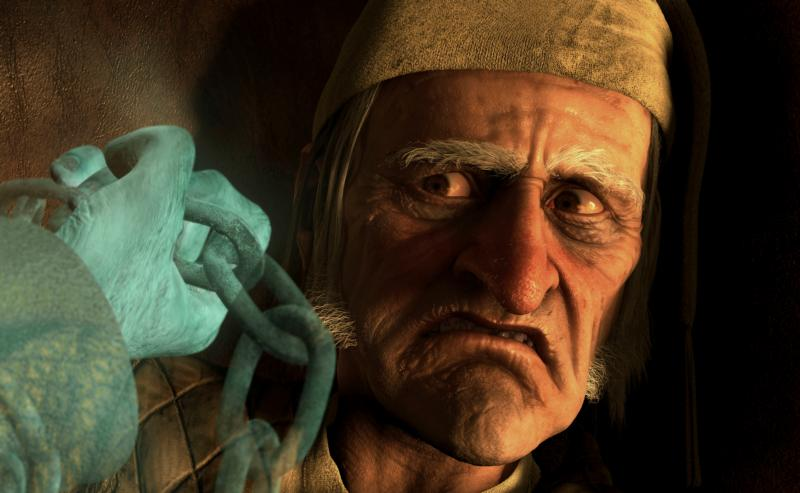 "Ebenezer Scrooge, voiced by Jim Carrey, is seen in the animated 2009 movie ""A Christmas Carol."" This movie is among several Christmas films reviewed. (CNS photo/Disney)"